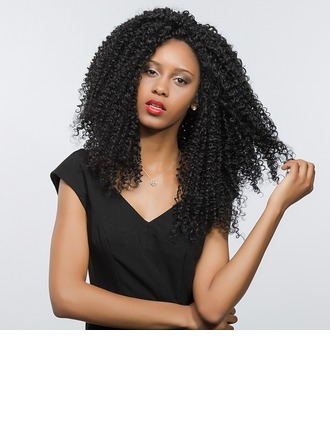 Kinky Curly Synthetische Lace Front Pruiken 280g