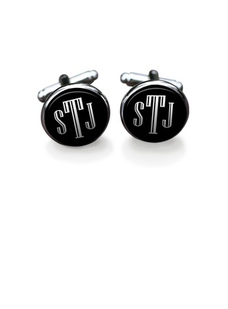 Personalized Classic Alloy Cufflinks (Set of 2)