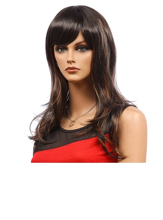 Body Wavy Synthetic Hair Capless Wigs 180g