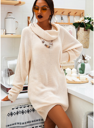 Turtleneck Casual Long Chunky knit Sweaters