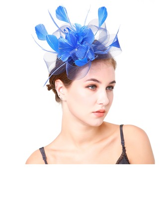 Dames Beau Feather/Fil net avec Feather Chapeaux de type fascinator