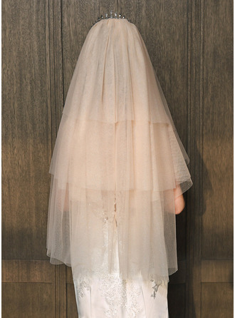 Three-tier Cut Edge Elbow Bridal Veils