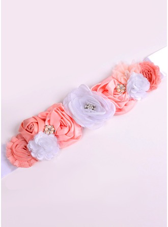 Elegant/Flower Girl Satin Sash With Flower