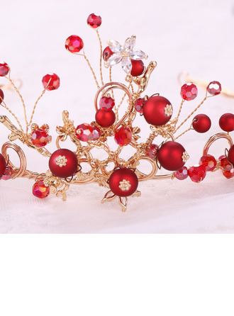 Ladies Fancy Rhinestone/Alloy/Pearls Headbands (Set of 3)