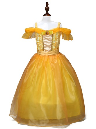 A-Line/Princess Ankle-length Flower Girl Dress - Polyester Sleeveless Bateau With Bow(s)