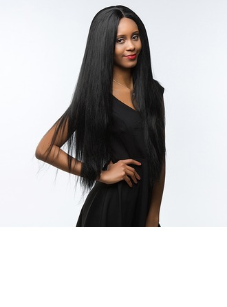 4A Non remy Yaki Straight Human Hair Full Lace Cap Wigs 190g