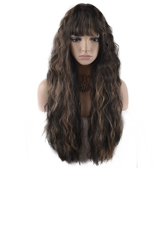 Wavy Synthetic Hair Capless Wigs 280g