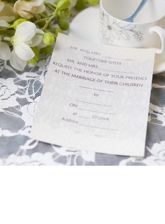 Klassische Art Flache Karte Invitation Cards