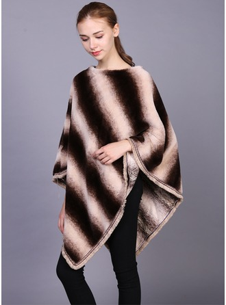 Stitching Oversized/Cold weather Artificial Wool Poncho