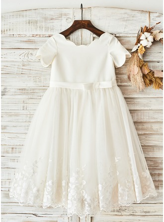 A-Line/Princess Knee-length Flower Girl Dress -