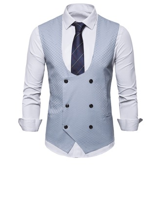 Formal Polyester Viskose Mænds Vest