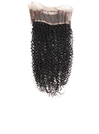 360 Frontal 4A Non remy Kinky Curly Human Hair Closure (Sold in a single piece) 80g