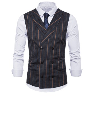 Stripe linned Mænds Vest