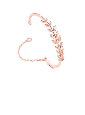 Leaves Shaped Alloy/Crystal Bracelets For Bride/For Bridesmaid/For Mother/For Friends/For Couple