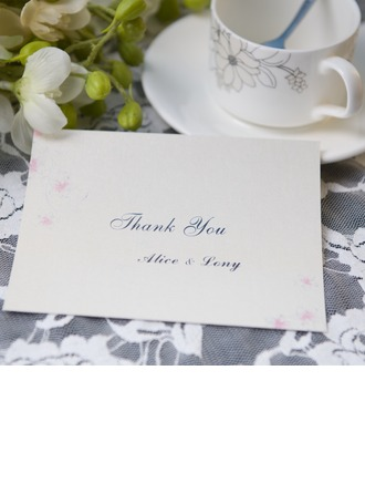 Personalized Modern Style Thank You Cards (Set of 50)