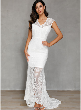 Lace Solid Sheath Cap Sleeve Maxi Party Elegant Dresses