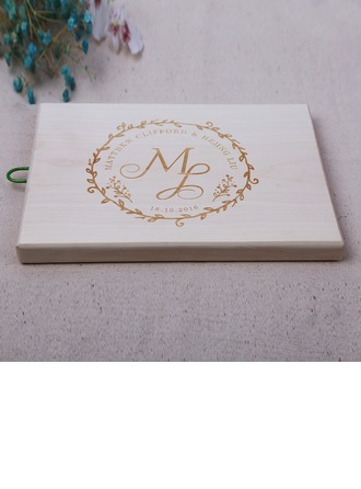Groom Gifts - Personalized Modern Classic Elegant Wooden Cutting Board
