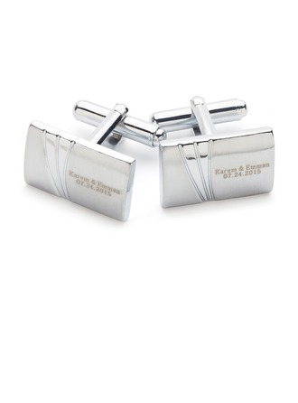 Personalized Classic Copper Cufflinks (Set of pairs)