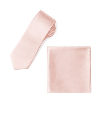 Style Classique Cravate Pocket Square charmeuse