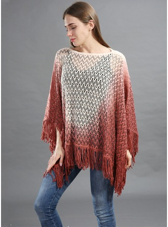 Retro /Cru Énorme/mode/simple Laine artificielle Poncho