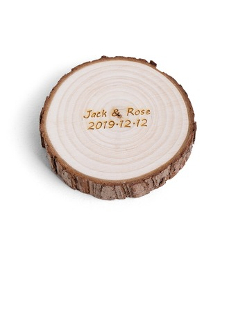 Bride Gifts - Personalized Attractive Special Wooden Ring Holder