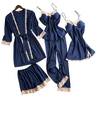 Polyester Classic Feminine Pajama Sets (Set of 4)
