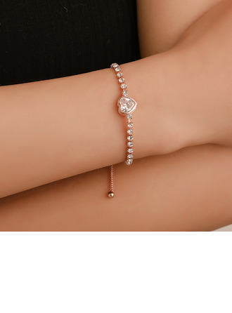 Beautiful Copper With Rhinestone Zircon Women's Fashion Bracelets (Sold in a single piece)