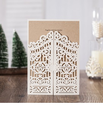 Personalized Classic Style/Modern Style Double Gate-Fold Invitation Cards/Birthday Cards/Response Cards/Thank You Cards/Greeting Cards (Set of 50)