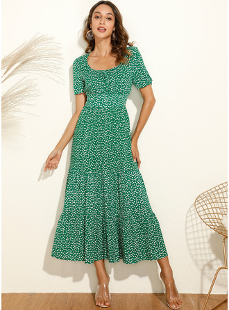 Square Neck Polyester Dresses