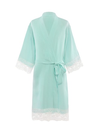 Flower Girl Cotton With Knee-Length Girl Robes