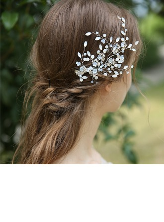 Ladies Beautiful Crystal/Rhinestone/Alloy Hairpins With Rhinestone/Crystal (Sold in single piece)