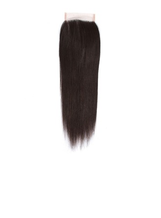 "4""*4"" 4A Non remy Straight Human Hair Closure (Sold in a single piece)"