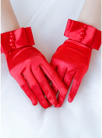 Satin Wrist Length Bridal Gloves