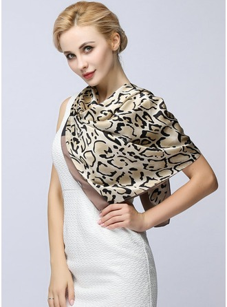 Leopard Square/Light Weight Scarf