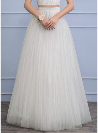 Floor-Length Tulle Wedding Dress