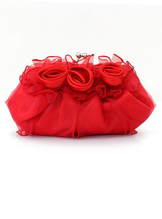 Gorgeous Satin/Tulle Clutches/Bridal Purse/Evening Bags