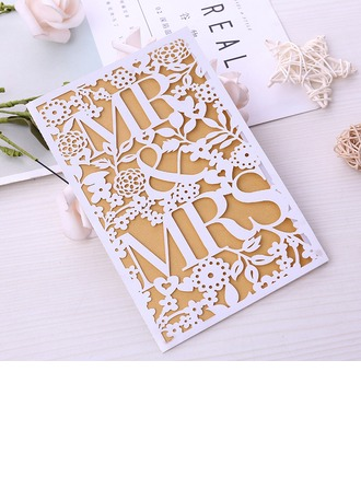 Fairytale/Style papillon Plis portefeuille Cartes d'invitations