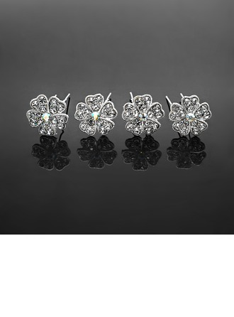 Mode Strass Alliage Épingles à cheveux (Lot de 4)