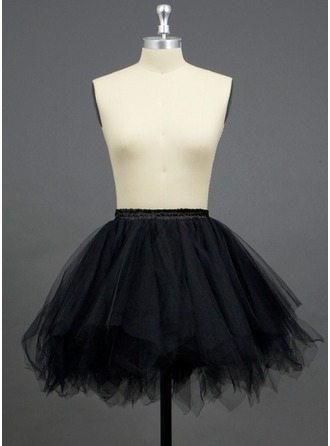 Women Tulle Netting/Polyester Short-length 3 Tiers Petticoats