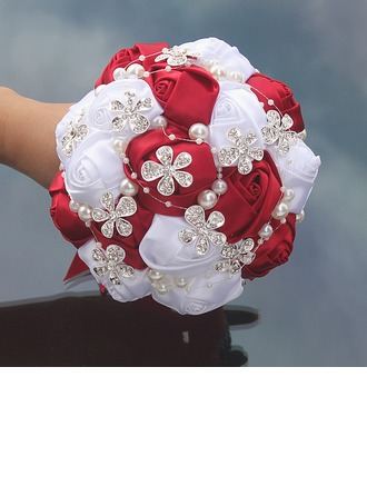 Free-Form Satin Bridal Bouquets (Sold in a single piece) -