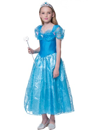 A-Line/Princess Ankle-length Flower Girl Dress - Sleeveless Off-the-Shoulder