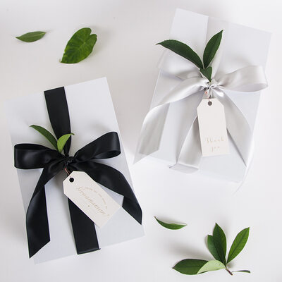 Regalos De La Dama De Honor - Simple Seda Papel para tarjetas Caja de regalo / bolsa