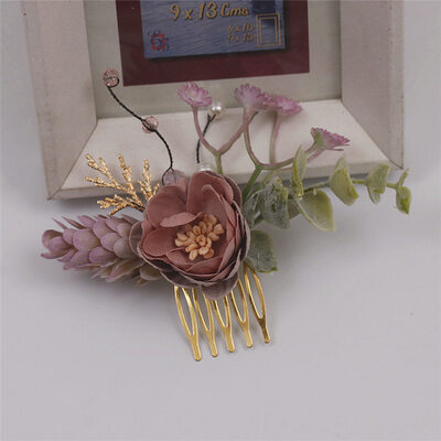Unique Alloy/Silk Flower Combs & Barrettes (Set of 2)