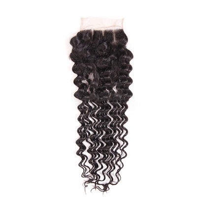 "4""*4"" 4A Non remy Deep Human Hair Closure (Sold in a single piece) 50g"