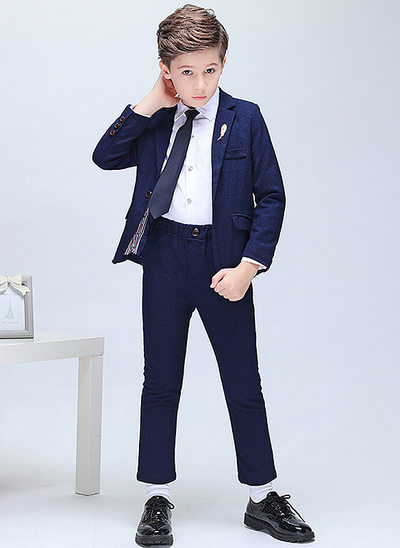 Boys 5 Pieces Elegant Ring Bearer Suits /Page Boy Suits With Jacket Shirt Pants Tie