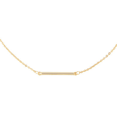 18k Gold Plated Silver Bar Necklace - Valentines Gifts