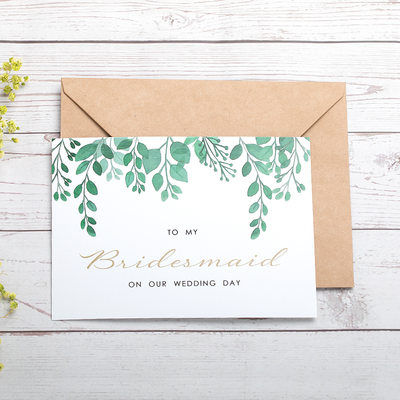 Bridesmaid Gifts - Card Paper Wedding Day Card