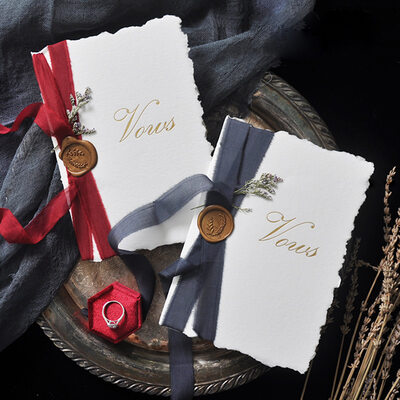 Bride Gifts - Graceful Card Paper Vow Booklet