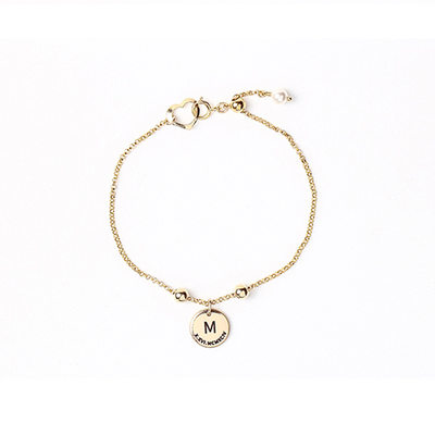 Christmas Gifts For Her - Custom Link & Chain Engraved Bracelets Initial Bracelets