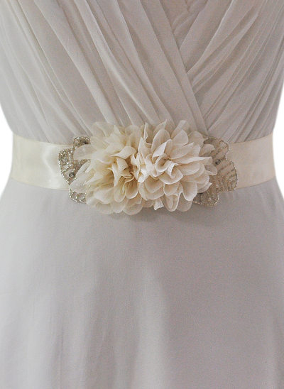Nice Satin Sash With Flower